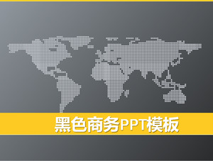 Black World Map Background Business PowerPoint Template