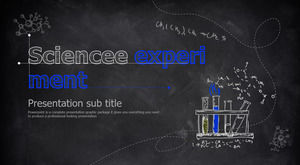 Blue Chalkboard Chalk Hand Drawn Science Chemistry Experiment PPT Courseware Template