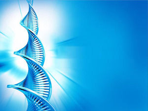 Blue DNA background medical PPT template download