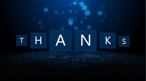 Blue Dynamic Spot Background Thank You Ppt Background Image Powerpoint Templates Free Download