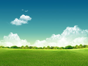 Blue sky white clouds background background natural scenery PPT background picture