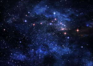 Blue star star cosmic star PPT background picture
