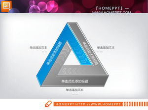 Azul Triangle Ciclo PowerPoint Chart Download