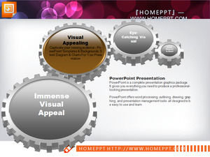 Brown crystal slide chart template package download