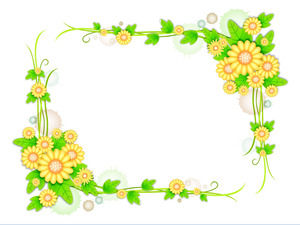 Bunch of floral borders PPT background image