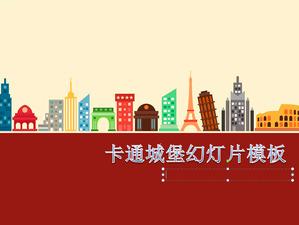 Cartoon castle background slideshow template download;