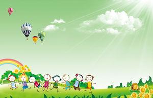 Gambar Latar Belakang PPT Hari Tokoh Kartun Anak-anak PowerPoint Template  Free Download