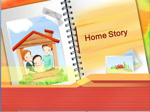 Cartoon children PPT template download