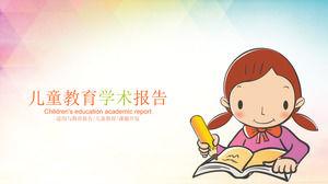 cartoon children writing background for children education academic