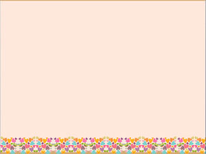 Cartoon lace PowerPoint background image download