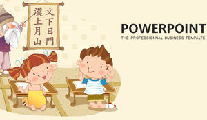 Latar Belakang Mengajar Guru Tua Yang Berwarna Warni Karakter Cina Mengajar Template Ppt Powerpoint Template Free Download