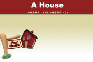 Cartoon Small House Background Ppt Template Download Powerpoint Templates Free Download
