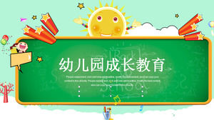 Cartoon style child growth education PPT template