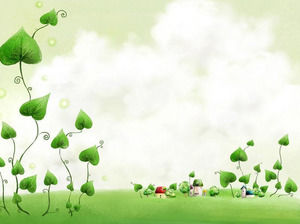 Cartoon vines PowerPoint background image download