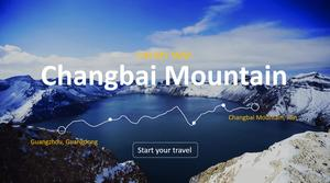 Changbai Mountain Tourism Itinerary Introduction PPT Template