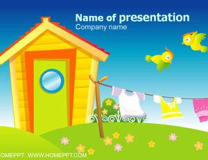 Children cartoon PPT template download