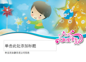 Children's Day ppt template