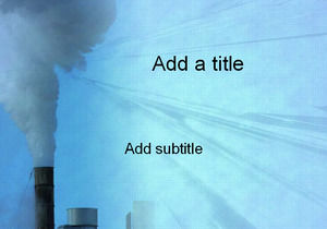 Chimney emissions - environmental topics PPT template