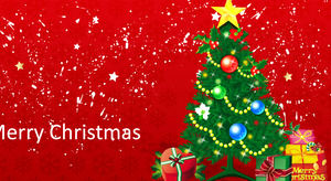 Christmas animation PPT template download