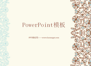 Classical cartoon pattern background art PowerPoint template download