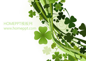 Clover background PPT template download