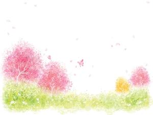 Color painted PPT background picture
