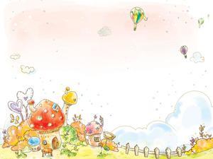 カラフルな塗装漫画pptの背景画像 powerpointテンプレート無料ダウンロード