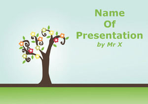 Colorful Pastel Tree powerpoint template