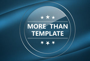Crystal texture business PPT universal template