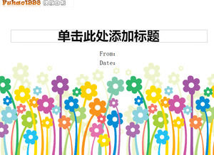 Cute Little Colored Flower Cartoon Vector Ppt Template Powerpoint Templates Free Download
