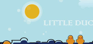 Cute MBE style cartoon little yellow duck PPT template