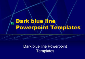 Dark blue line Powerpoint Templates