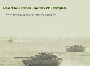 Desert tank station - military PPT template