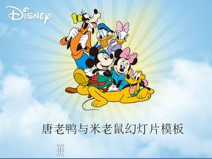 Don Ladies Mickey Mouse Background Disney Cartoon PPT template download