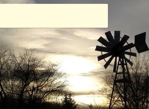 Dusk Windmill