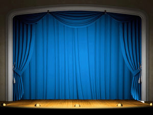 Dynamic Curtain Staged PPT Background Template