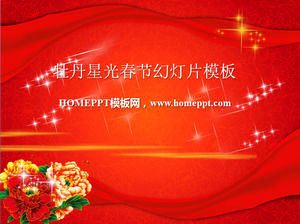 Dynamic Star Peony Satin Background New Year Slideshow Template
