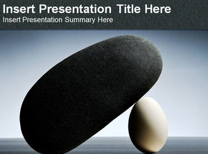 Eggs and stones Powerpoint Templates
