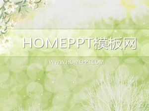Elegant Flower Background PPT Template Download