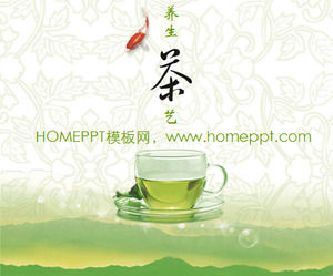 Elegant Green Tea Background Chinese Tea Culture Slideshow Template Download