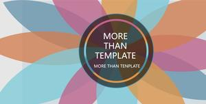 Elegant multi-color multi-function universal PPT template