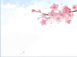 Elegant painted floral PPT background picture