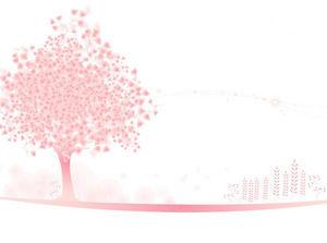 Gambar Latar Belakang Ppt Pohon Merah Muda Yang Elegan Powerpoint Template Free Download