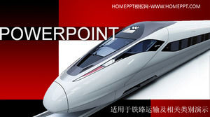 Exquisite motorway high - speed rail harmonica background traffic slideshow template