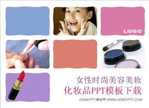 Fashion Women Cosmetics Beauty Ppt Template Download