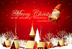 Fine animation Christmas PPT template download