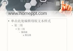 Finger box background technology slideshow template