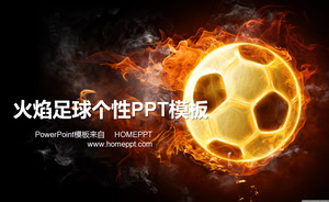 Flame Soccer Personality PPT Template Download