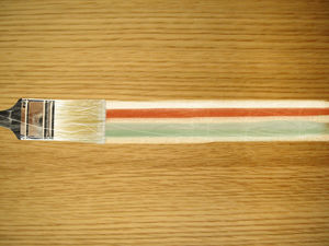 Floor paint brush furniture PPT background picture