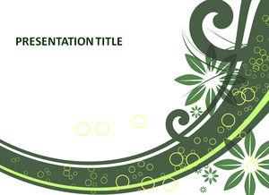 Floral green presentation